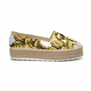 Γυναικείες κίτρινες eσπαντρίγιες Sweet Shoes