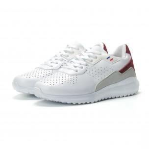 Ανδρικά λευκά αθλητικά παπούτσια με διακοσμήσεις ελαφρύ μοντέλο 2