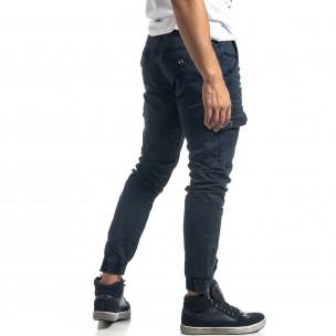 Ανδρικό γκρι cargo παντελόνι με φερμουάρ