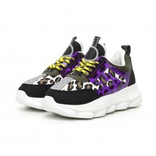 Γυναικεία μαύρα αθλητικά παπούτσια με λεπτομέρειες Mix  2