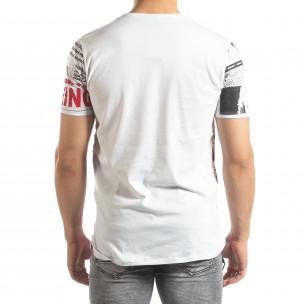 Ανδρική λευκή κοντομάνικη μπλούζα Exclusive News 2