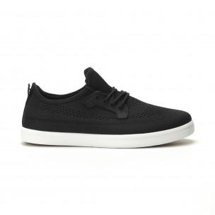 Ανδρικά μαύρα sneakers ελαφρύ μοντέλο