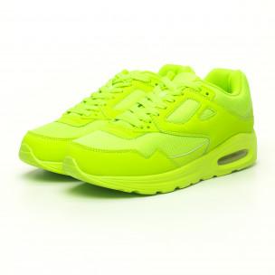 Ανδρικά νέον πράσινα αθλητικά παπούτσια με αερόσολα 2