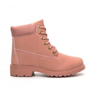 Γυναικεία ροζ μποτάκια με επένδυση 2