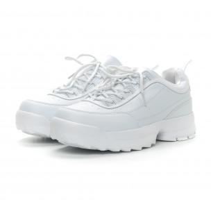 Ανδρικά λευκά αθλητικά παπούτσια Ckunky  2