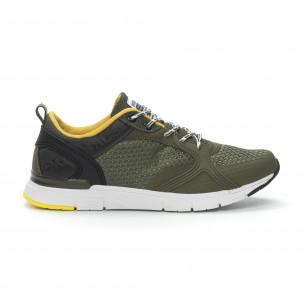 Ανδρικά πράσινα αθλητικά παπούτσια με κορδόνια  2