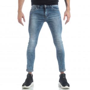 Ανδρικό γαλάζιο τζιν Skinny Washed Jeans 2