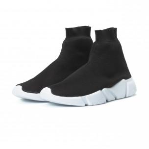 Ανδρικά μαύρα αθλητικά παπούτσια Slip- on 2