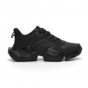 Extra Chunky ανδρικά μαύρα αθλητικά παπούτσια ελαφρύ μοντέλο 2