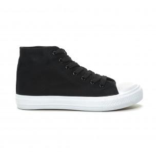 Γυναικεία μαύρα ψηλά sneakers  Bella Comoda