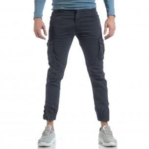 Ανδρικό μπλε cargo Jogger παντελόνι   2
