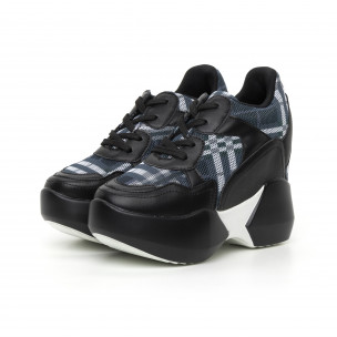 Γυναικεία καρέ αθλητικά παπούτσια με κρυφή πλατφόρμα 2
