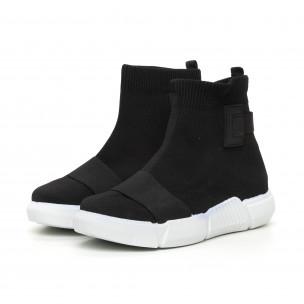 Γυναικεία  slip-on μαύρα αθλητικά παπούτσια με λάστιχο 2
