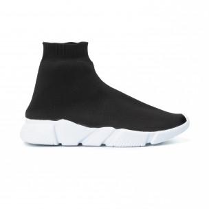 Ανδρικά μαύρα αθλητικά παπούτσια Slip- on