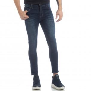 Ανδρικό μπλε κλασικό τζιν Skinny Jeans