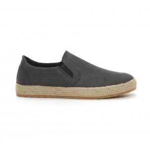 Ανδρικές μαύρες εσπαντρίγιες τύπου sneakers