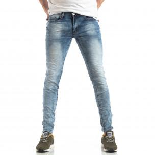 Ανδρικό γαλάζιο τζιν Washed Slim Jeans Yes!Boy