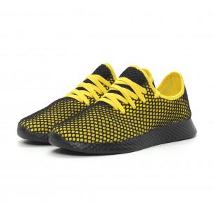 Ανδρικά κίτρινα αθλητικά παπούτσια Mesh ελαφρύ μοντέλο