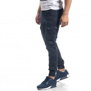 Ανδρικό γαλάζιο παντελόνι cargo J.Sette