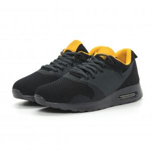 Ανδρικά μαύρα αθλητικά παπούτσια Kiss με αερόσολα  2