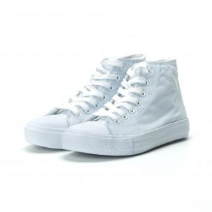 Γυναικεία λευκά ψηλά sneakers  2