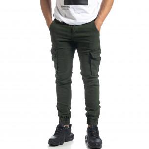 Ανδρικό Cargo Jogger παντελόνι σε χρώμα Olive  2
