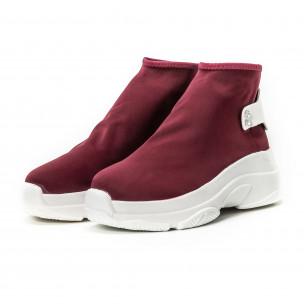 Γυναικεία κόκκινα sneakers χωρίς κορδόνια 2