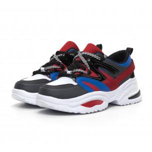 Chunky ανδρικά μπλε-κόκκινα αθλητικά παπούτσια 2