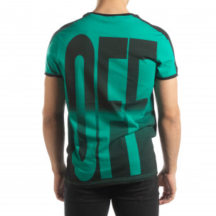 Ανδρική πράσινη κοντομάνικη μπλούζα ON/OFF  2