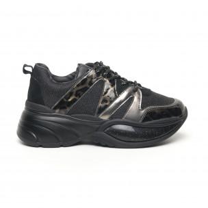 Γυναικεία αθλητικά παπούτσια με λάμψη και χοντρή σόλα Findlay
