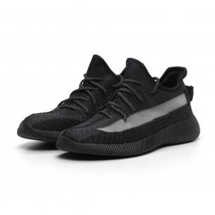 Ανδρικά διχτυωτά γκρι-μαύρα αθλητικά παπούτσια ελαφρύ μοντέλο 2