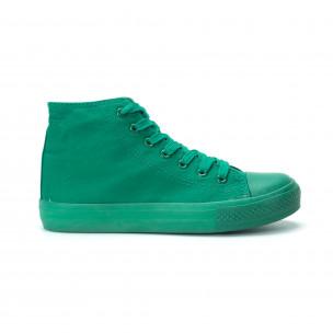 Γυναικεία πράσινα ψηλά sneakers