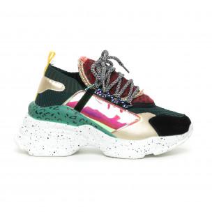 Γυναικεία Chunky αθλητικά παπούτσια Patchwork Bellamica