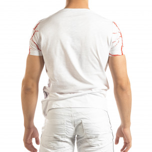 Ανδρική λευκή κοντομάνικη μπλούζα Supple  2