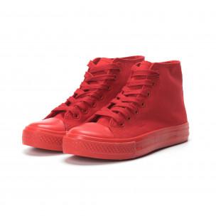 Γυναικεία κόκκινα ψηλά sneakers  2
