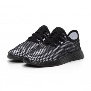 Ανδρικά ασπρόμαυρα αθλητικά παπούτσια Mesh ελαφρύ μοντέλο  2