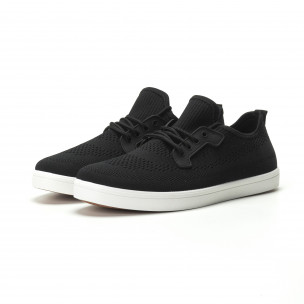 Ανδρικά μαύρα sneakers ελαφρύ μοντέλο 2