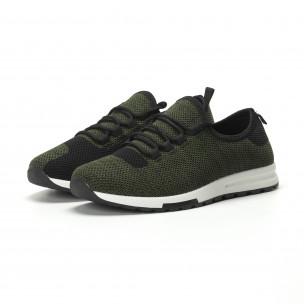 Ανδρικά πράσινα μελάνζ αθλητικά παπούτσια ελαφρύ μοντέλο  2
