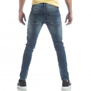 Ανδρικό μπλε τζιν Washed Jeans 2