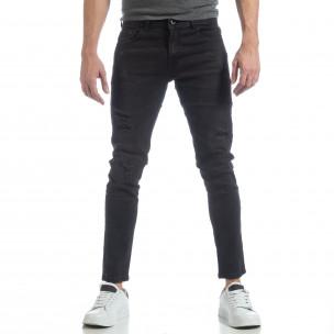 Ανδρικό μαύρο τζιν Skinny fit  2