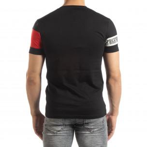 Ανδρική μαύρη κοντομάνικη μπλούζα Be Creative  2