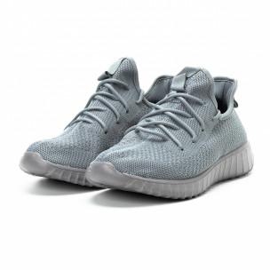 Ανδρικά γκρι αθλητικά παπούτσια ελαφρύ μοντέλο  2
