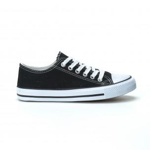 Γυναικεία μαύρα sneakers κλασικό μοντέλο