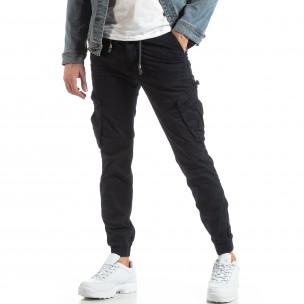 Ανδρικό σκούρο μπλε παντελόνι Cargo Jogger