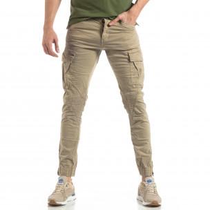 Ανδρικό μπεζ παντελόνι Cargo Jogger  2