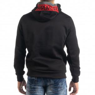 Ανδρικό φούτερ hoodie με κόκκινη λεπτομέρεια  2