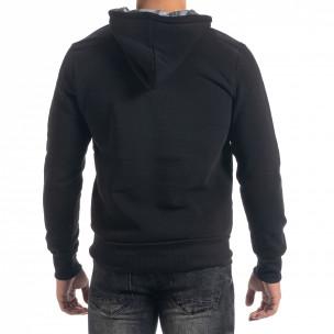 Ανδρικό μαύρο φούτερ hoodie με πριντ Originals  2