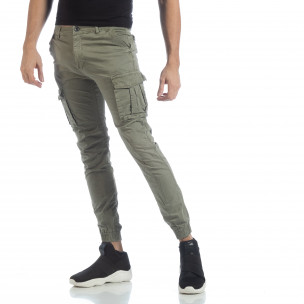 Ανδρικό πράσινο cargo Jogger παντελόνι