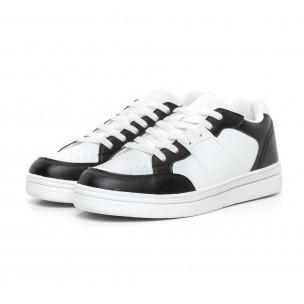 Ανδρικά skate sneakers σε λευκό και μαύρο  2