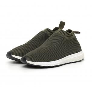 Ανδρικά slip-on πράσινα αθλητικά παπούτσια κάλτσα 2